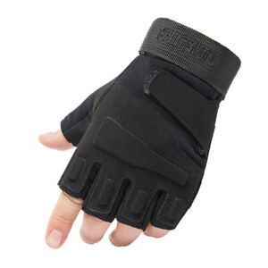 Army Military Combat Hunting Shooting Tactical EVA Knuckle Half Finger Gloves
