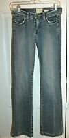 Marlow Distressed Jeans Boot Cut Embroidered Pockets Size 5 / 27