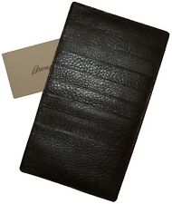$550 NEW BRIONI DEERSKIN LEATHER 17 SLOT CREDIT CARD CHEST POCKET MONEY WALLET
