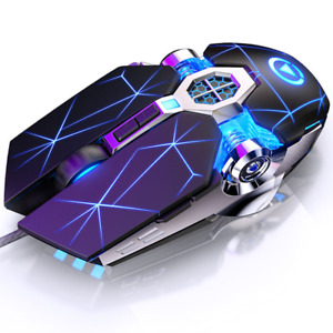 Gaming Mouse 7 Button DPI Adjustable Computer Optical LED Game Mice USB Wired