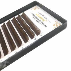 Brown False Cilia Eyelashes Individual Eyelash Extension Faux Mink C D