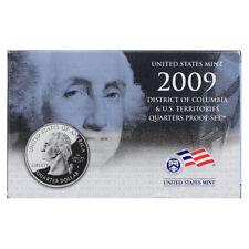 b 2009 District of Columbia /& US Territories Clad Quarters Proof Set