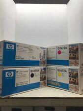 HP Q2670A - Q2671A - Q2672A - Q2673A Toner set  - LaserJet 3500 - GENUINE