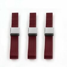 Chevy Truck 1955 - 1959 Airplane 2pt Burgandy Lap Bench Seatbelt Kit - 3