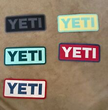 YETI Sticker / Decal set of 5 Different Color from YETI Brand new Bumper Sticker
