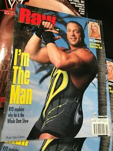 WWF WWE RAW Magazine OCTOBER 2001 Rob Van Dam RVD