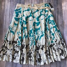 Nygard Collection Skirt 16 XL Full A Line Modest Long Embroidered Cotton Peter