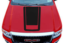 Custom Vinyl Graphics Decal Wrap Kit for 14-17 GMC Sierra Truck Hood BLACKOUT V3