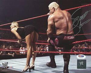 Scott Steiner Signed WWE 8x10 Photo PSA/DNA COA Auto'd Picture w/ Stacy Keibler