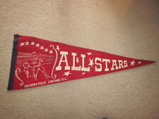 VINTAGE 1948 ALL STAR GAME PENNANT AT SOLDIER FIELD CHICAGO IL 29 X 11