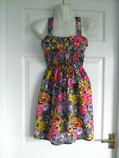 Womens Size 8 Dress LADIES FLORAL SUMMER PARTY WORK CASUAL OFFICE SMART EVENING