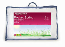 Pillow With Springs Pocket Sprung Pillows Plump Bounce Back Support