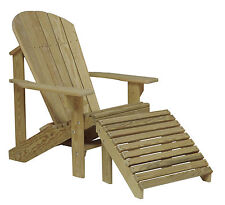 Outdoor Patio Furniture Treated Pine Fan Back Lawn & Garden Adirondack Chair