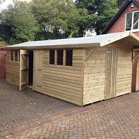 20x12 Ultimate  19mm Apex Heavy Duty Shed/ Workshop 3x2 Cls Frame Work