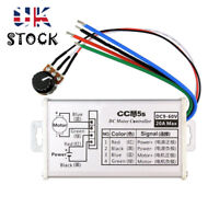 12V 24V Max 20A PWM DC Motor Stepless Variable Speed  Controller Switch *UK