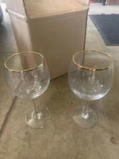 New listing Gold Trim Wine Glasses - Used