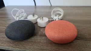 LOT OF 2 Google Home Mini Smart Assistant