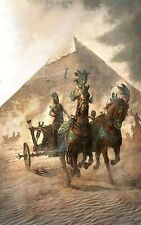 Old Egyptian Chariot At The Pyramids - Handmade Oil Painting On Canvas
