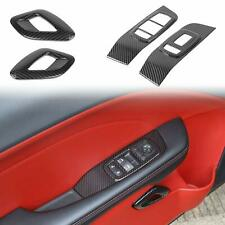 4x Window Switch Panel & Door Handle Trim Cover for 2015+ Dodge Challenger Decor