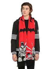 "DC Comics Collectors Jiro Kuwata Batmanga 1960s Batman Robin Knit Neck Scarf 80"""