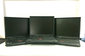 LOT Of 3 IBM Thinkpad T23 Laptops (Powers/Selling For Parts) *Read Description*