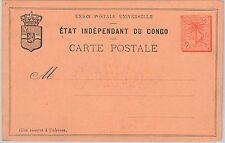 Palm trees - CONGO -  POSTAL STATIONERY CARD - H & G # 3