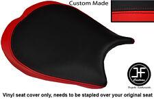 Rojo y Negro Diseño 2 personalizado de vinilo cabe DUCATI 1198 848 1098 Cubierta de asiento delantero