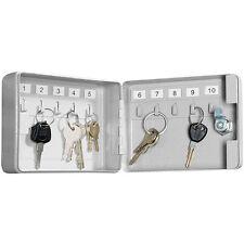 Xcase Mini-Stahl-Schlüsselschrank für 10 Schlüssel, mit Sicherheitsschloss