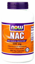 4x Now Foods NAC N Acetyl Cysteine Amino Acids Supplement 600mg 250 Veggie Caps