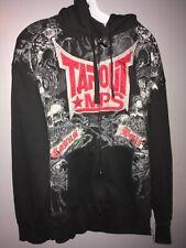 Tapout MPS Black Casus Belli Full Zip Hoodie Sweatshirt Jacket Size XL MMA UFC