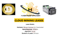 24 hour 550MH/s DOGECOIN Mining Crypto Rental LTC Server Lease ANTMINER L3+ Doge