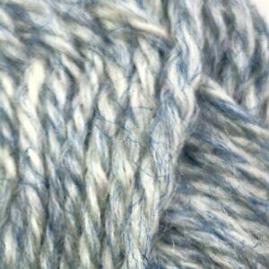 Yarn Skeins Sofil Lyslaine Wool Blend France Blue White Marled VTG Lot 6