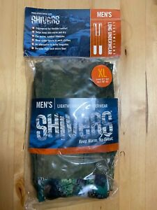 Men's Lightweight Long Underwear - XL - by Shivers - Skiing/Camo Green