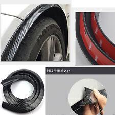 4Pcs/Sets Universal 3D Carbon Fiber Front & Rear Fender Wheel Flare Trim Spoiler