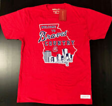 MLB Atlanta Braves Country Mitchell & Ness Tagless Baseball Men's T-Shirts Tees