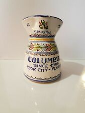 Vintage Signed Hand Thrown Ceramic Stoneware Pottery Sangria Style Pitcher