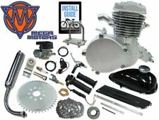 80cc Mega Motors Bicycle Engine Kit Motorized Bike Gas Silver 2 Stroke 66cc New