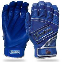 Franklin Sports Powerstrap Chrome Batting Gloves Large - Team Royal - 20494F4
