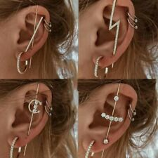Bohemia Cubic Zirconia Earrings Ear Wrap Crawler Hook Women Wedding Jewelry Gift