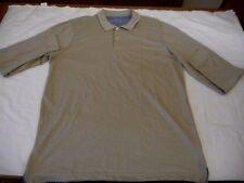Men's Covington Long Sleeve Polo Shirt Egret Color Size Large NEW $40