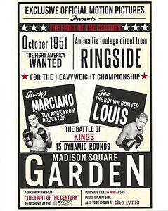 ROCKY MARCIANO vs JOE LOUIS  8X10 PHOTO BOXING POSTER PICTURE