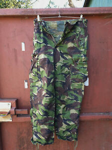 BRITISH TROUSERS COMBAT WINDPROOF WOODLAND RIPSTOP 82/80/96 - 31 1/2 INCH