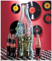 Plastic Coca Cola Bottle Giant Large Tall Big Coin Storage Piggy Bank Money Safe