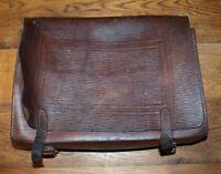 Antiker Schulranzen Ranzen Tasche Schultasche aus Leder um 1900