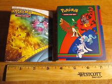 2x Pokemon MINI Binder/Album/Folder Card Holder Mew Pikachu Incineroar Decidueye