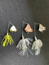 Lot of 3 older LUNKER LURE BUZZ BAITS (used)