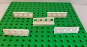 Lego Fence WHITE Lot of 5 Short Hurdles Horse Jumping Gear Dog Pen Yard Lattice