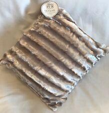 Faux Fur - Skylar - Luxury Satin Stripe Cushion - Champagne -48x48cm - Brand New