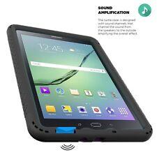 Poetic For Samsung Galaxy Tab A 8.0 [Turtle Skin] Corner/Bumper TPU Case Black