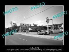 OLD LARGE HISTORIC PHOTO OF NEDLANDS WA, THE CALTEX OIL SERVICE STATION c1975